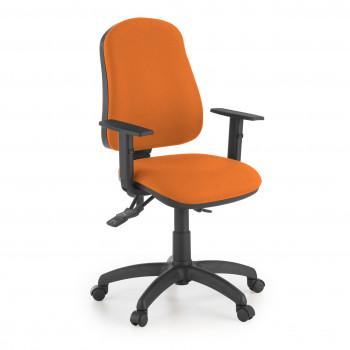 Eco2 - Silla de escritorio giratoria Eco2 Con Brazos Naranja - Imagen 1