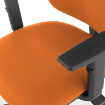 Eco2 - Silla de escritorio giratoria Eco2 Con Brazos Naranja - Imagen 2