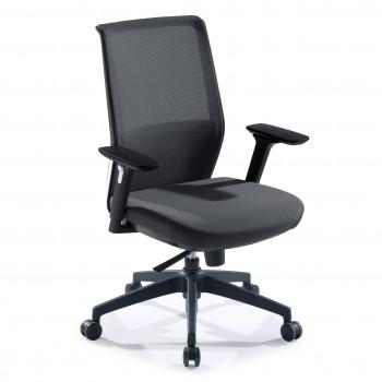 Wind - Silla de oficina Wind, respaldo ergonómico, brazos 3D, red negro - Imagen 1
