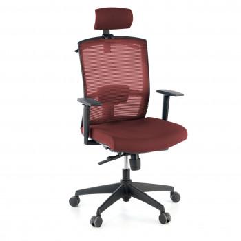 Kendo - Silla de oficina Kendo, brazos ajustables, reposacabezas, red rojo - Imagen 1