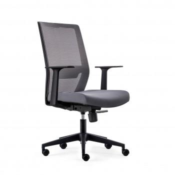 Axel - Silla de oficina Axel, espuma inyectada, gris - Imagen 1