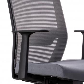 Axel - Silla de oficina Axel, espuma inyectada, con reposacabezas gris - Imagen 2