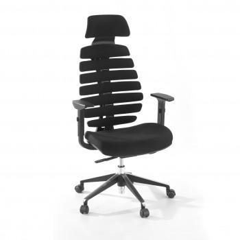 Spine - Silla de oficina Spine con reposacabezas negro - Imagen 1