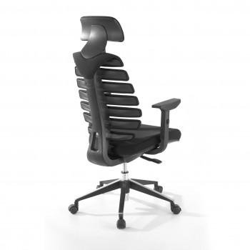 Spine - Silla de oficina Spine con reposacabezas negro - Imagen 2