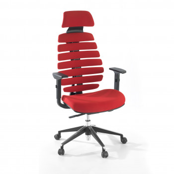 Spine - Silla de oficina Spine con reposacabezas rojo - Imagen 1
