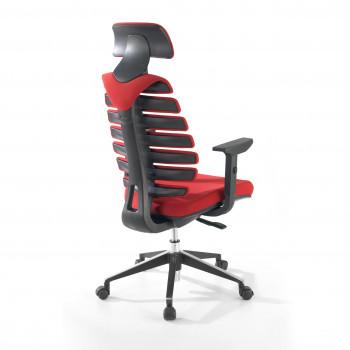 Spine - Silla de oficina Spine con reposacabezas rojo - Imagen 2