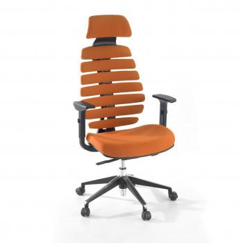 Spine - Silla de oficina Spine con reposacabezas naranja - Imagen 1