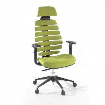 Spine - Silla de oficina Spine con reposacabezas verde - Imagen 1