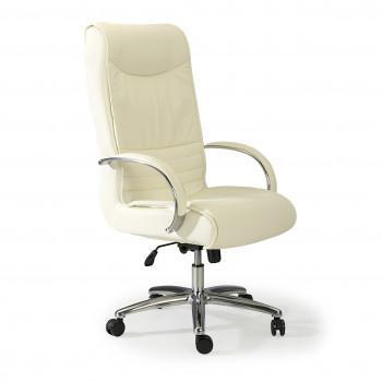 Oxford - Sillón de oficina Oxford piel natural blanco - Imagen 1