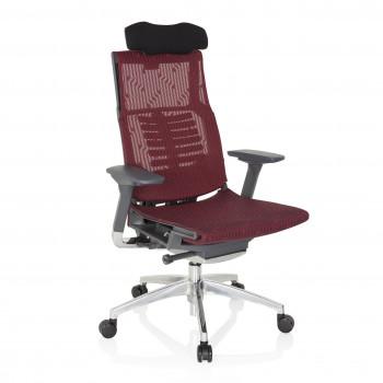 Dynamic - Silla ergonómica Dynamic, brazos 4D, sincro, red rojo - Imagen 1