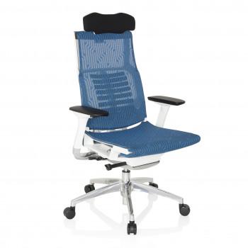 Silla ergonómica Dynamic White, brazos 4D, sincro, red Azul - Imagen 1