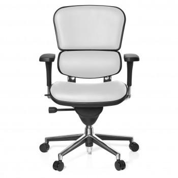 Keystone - Silla ergonómica Keystone, aluminio, sincro, Piel Blanco - Imagen 2