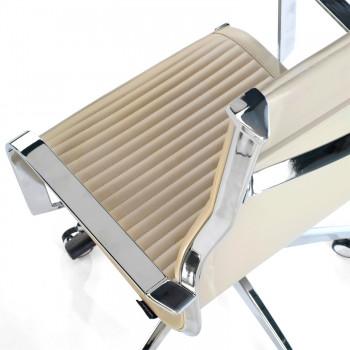 Croma - Silla de oficina Croma respaldo alto beige - Imagen 2