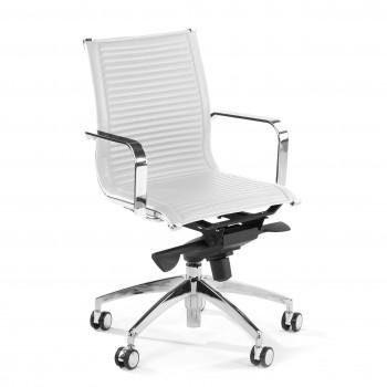 Croma - Silla de oficina Croma respaldo bajo blanco - Imagen 1