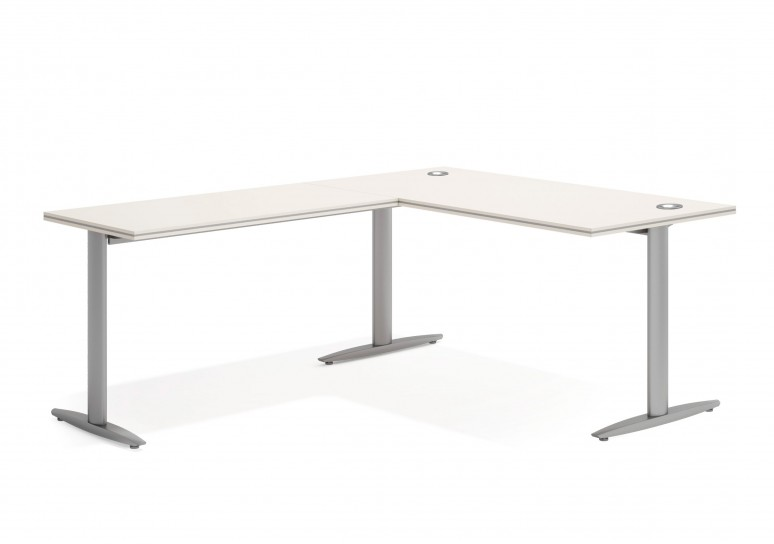 Work due mesa con ala aluminio