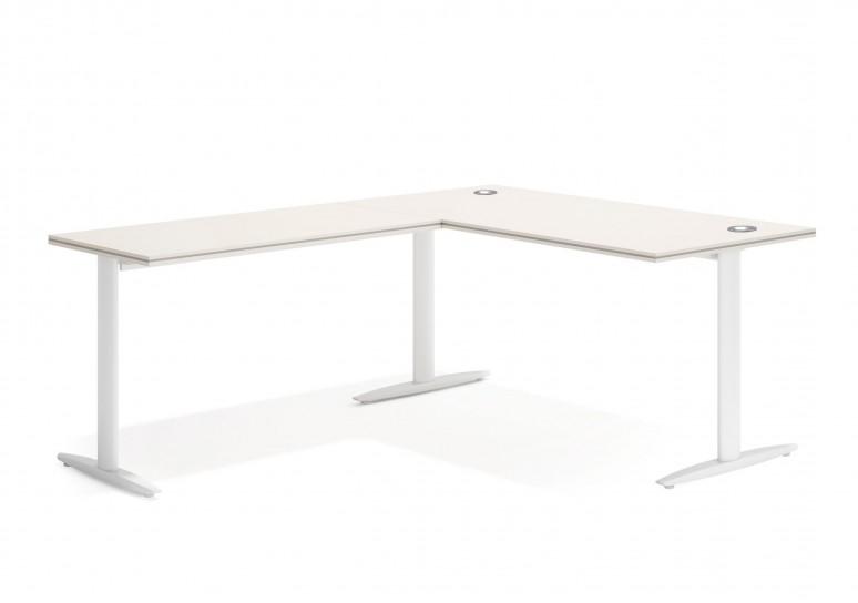 Work due mesa con ala blanco