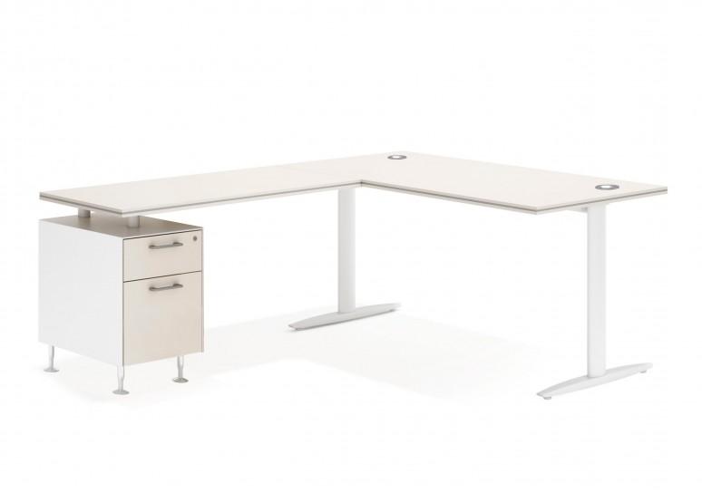 Work due mesa con cajonera cajon/archivo blanco