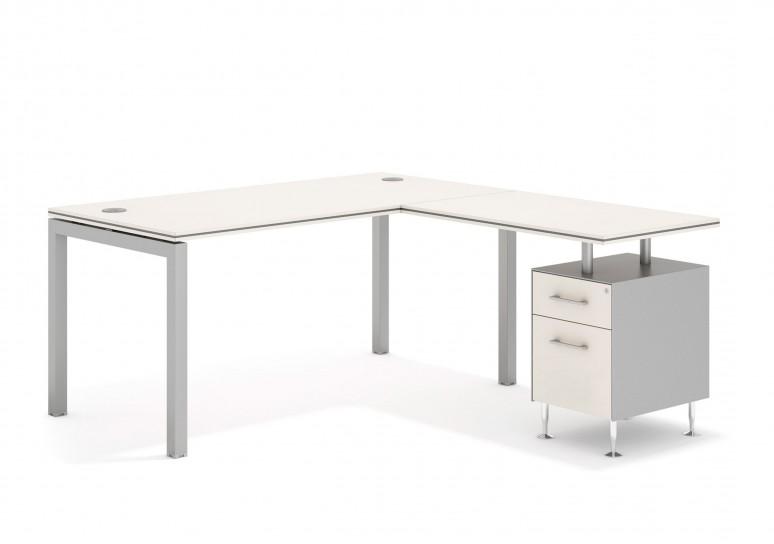 Work quattro mesa con cajonera cajon/archivo aluminio