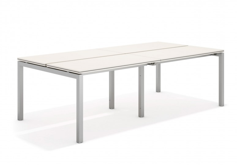 Work quattro mesa bench doble 123 aluminio