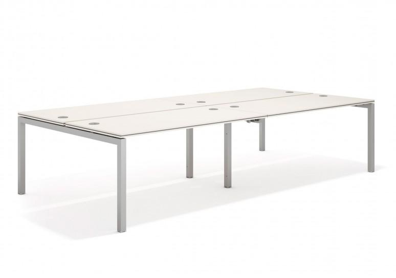 Work quattro mesa bench doble 163 aluminio