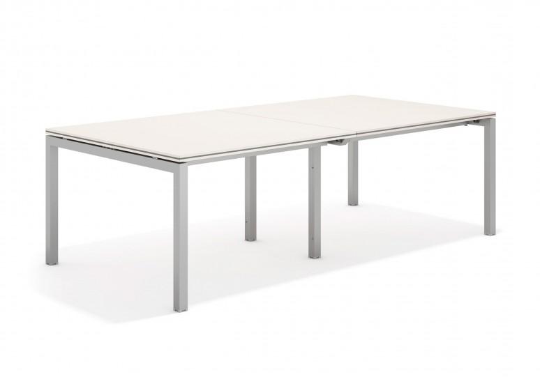 Work quatro mesa de juntas doble 123 aluminio