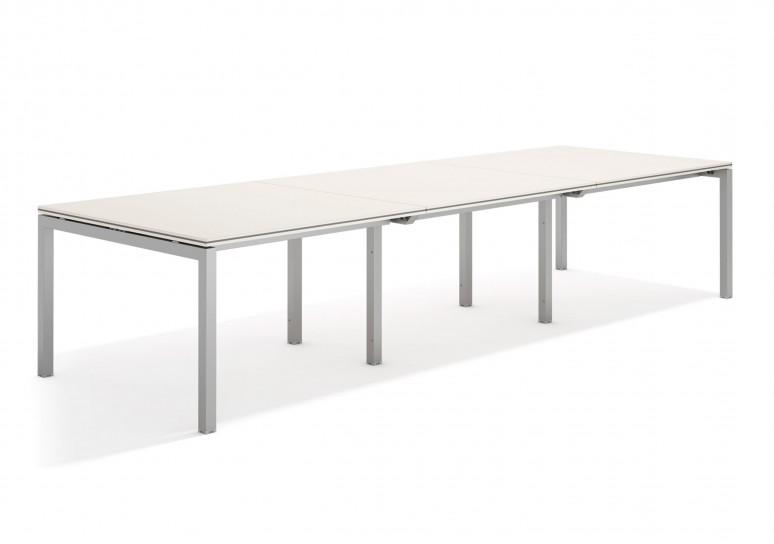 Work quatro mesa de juntas triple 123 aluminio