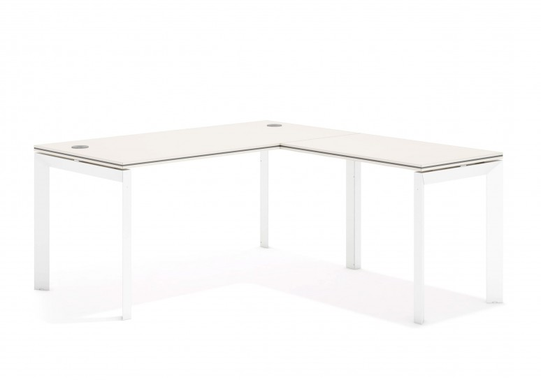 Work trio mesa con ala blanco