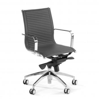 Croma - Silla de oficina Croma respaldo bajo gris - Imagen 1