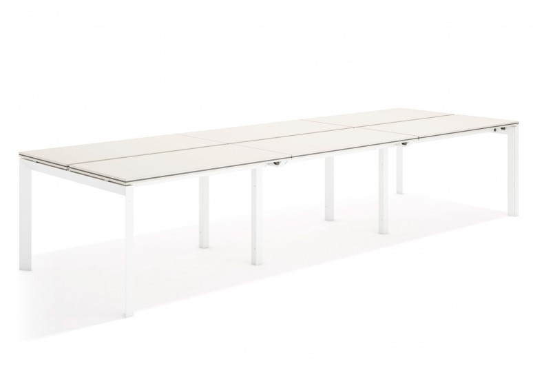 Work trio mesa bench triple 123 blanco