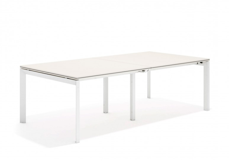 Work trio mesa de juntas doble 123 blanco