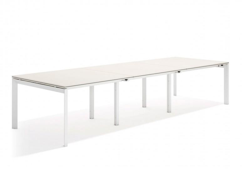 Work trio mesa de juntas triple 123 blanco