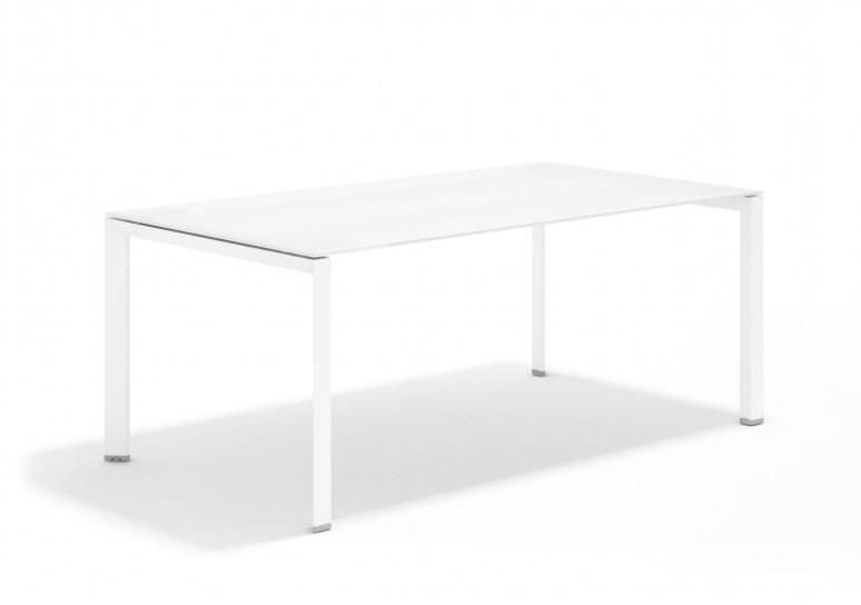 Link mesa de direccion cristal blanco