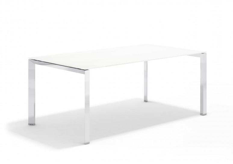 Link mesa de direccion cristal cromo