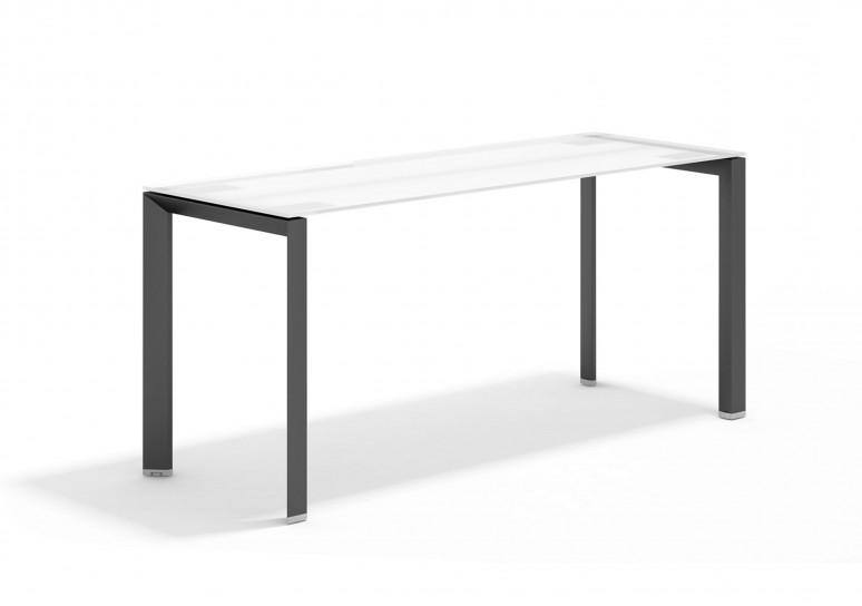 Link mesa auxiliar cristal negro