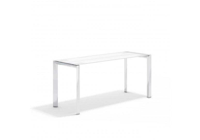 Link mesa auxiliar cristal cromo