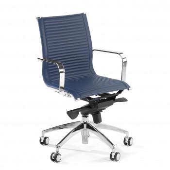 Croma - Silla de oficina Croma respaldo bajo azul - Imagen 1