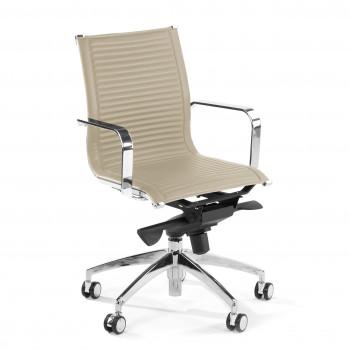 Croma - Silla de oficina Croma respaldo bajo beige - Imagen 1