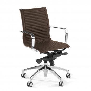 Croma - Silla de oficina Croma respaldo bajo marrón - Imagen 1