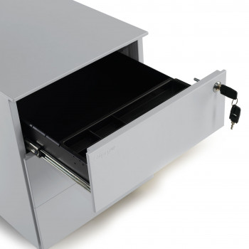Steelbox - Cajonera de oficina steelbox 3 cajones estructura aluminio - Imagen 2
