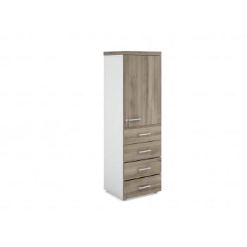 Armario TT - Armario de oficina TT, medida 159x50, 4 cajones+puerta 765 - Imagen 1