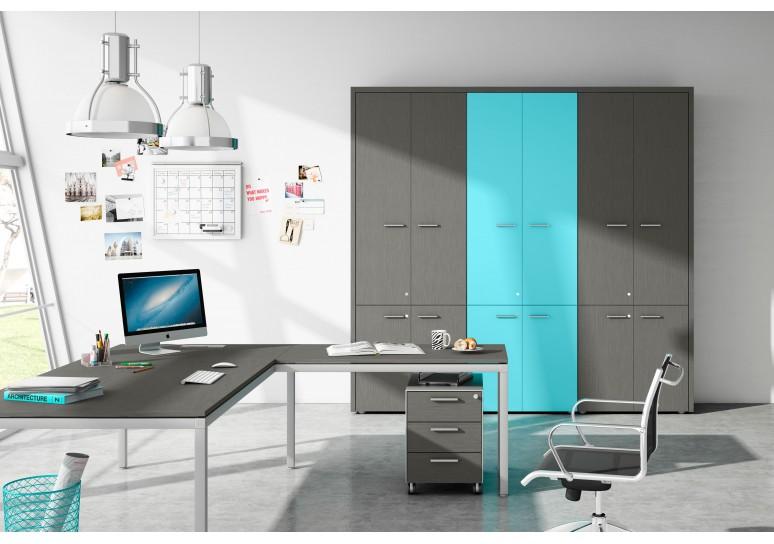 Armario de oficina TT, medida 121x80, estantes