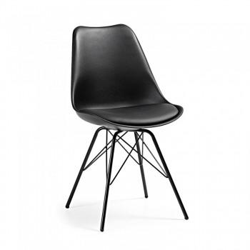 Nordic - Silla confidente Nordic patas de Metal, negro - Imagen 1