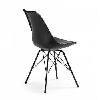 Nordic - Silla confidente Nordic patas de Metal, negro - Imagen 2