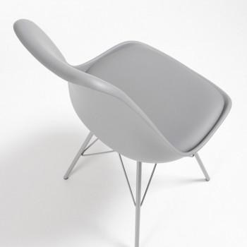 Nordic - Silla confidente Nordic patas de Metal, gris - Imagen 2