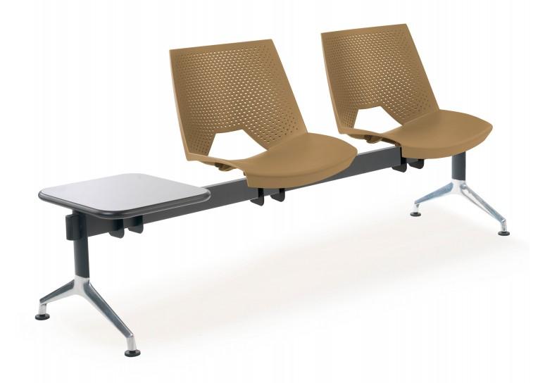Bancada sala de espera ares 2 asientos+mesa