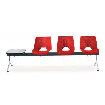 Bancada ares - Bancada sala de espera ares 3 asientos+mesa - Imagen 2
