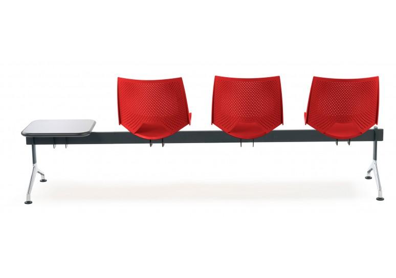 Bancada sala de espera ares 3 asientos+mesa