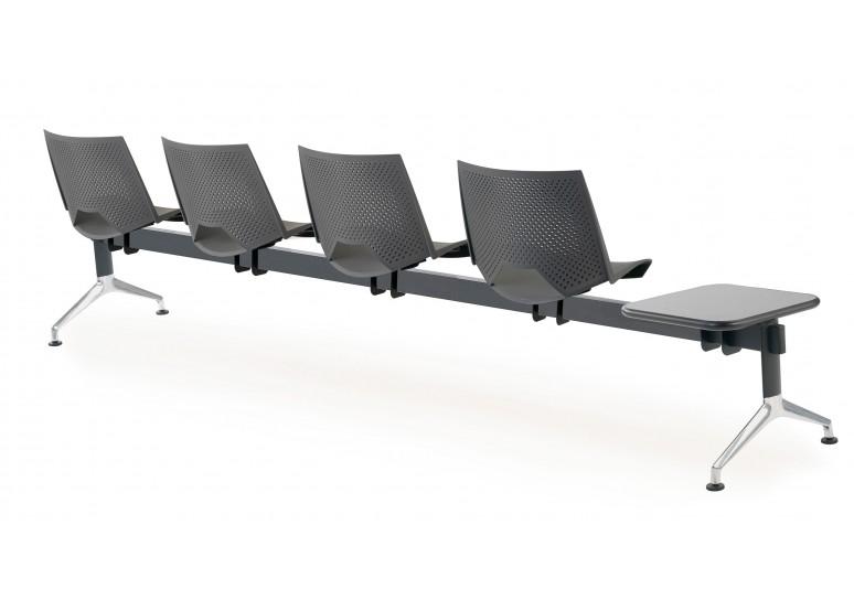 Bancada sala de espera ares 4 asientos+mesa
