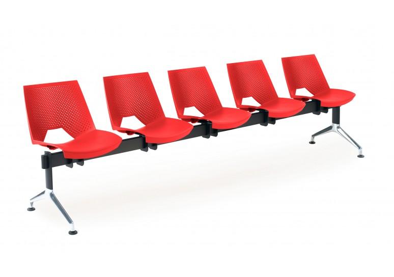Bancada sala de espera ares 5 asientos
