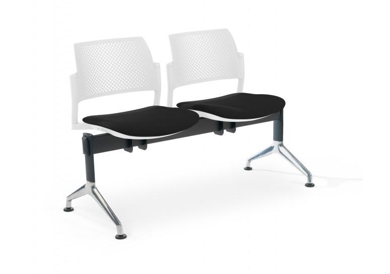 Bancada kyoto tapizada 2 asientos blanco